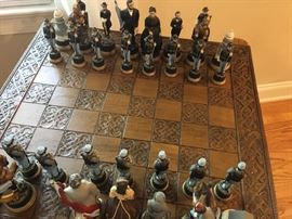 Civil War chessmen