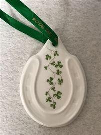 Lucky porcelain Horseshoe ~ Royal Tara - Ireland