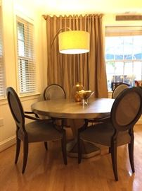 Round dining table only - chairs and lamp not available