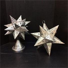 Hanging Tin Star Table Lamp