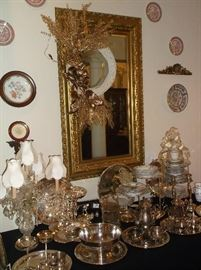 Lots of silver plate serving pieces