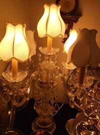 Crystal candelabrum lamp