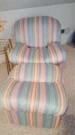 Multi colored chair an ottman