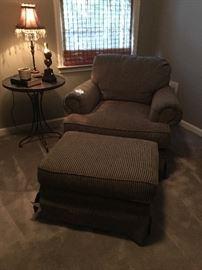 Comfy chair & ottoman
