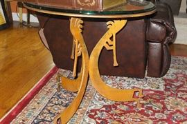 #19  Hand Crafted Copper Table /  Kokopelli   $450.