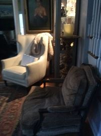 #4 White Leather Z-Gallery Chairs ( set of 2)   $500 ea