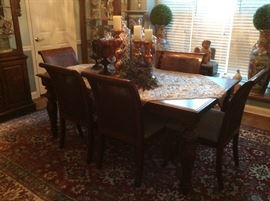 #3    Restoration Hardware Dining Set    ( 8 Chairs)                                 6 Side Chairs & 2 Side Chairs 1 Leaf  $2500.