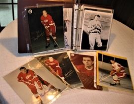 8 X 10 glossy Autographed sports pictures