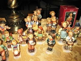 collection of Hummel figurines