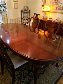 Beautiful dining room table and sideboard