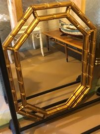 Large size vintage octagon shape mirror.