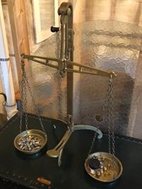 Vintage large brass scale