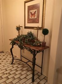 Nice wrought iron entry table