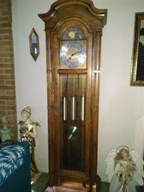 Circa 70's Howard Miller Grandfather Clock. Unique!