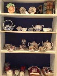 Toby/ tea pots /tea cups and saucers