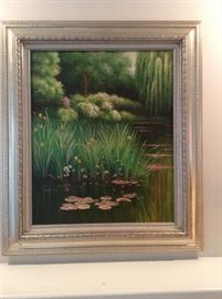 Leon lord papers included Oil on canvas framed