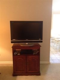 Flatscreen TV DVD player and TV stand