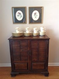 Very nice cabinet can be used for multiple purposes such as flat screen TV stand bar etc.