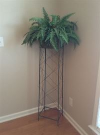 Nice all metal Decorative stand artificial Fern