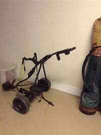 Battery operated Golf club cart will not be 1/2 price 2nd day  Will take bids of more than 60% of full price
