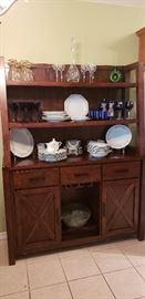 mission modern china hutch kitchen