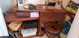 sewing machine table swivel stool