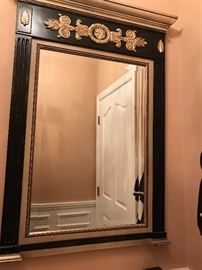 Black and gold antique look mirror