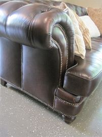 Randall Allan Washington Sofa, in wipe off leather..