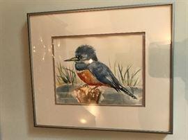 Signed Bird watercolors