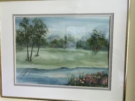 Watercolor artist signed