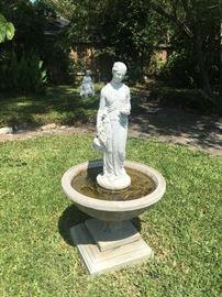 Birdbath with Statue