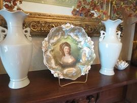 Unmarked RS Prussia Portrait Bowl