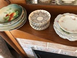Assortment of antique plates