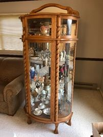 Curio Cabinet. Items in it for sale too