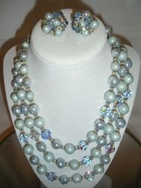 """""""SMALLS"""" Area:  Another vintage necklace set is shown.  This one is by VENDOME."""