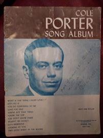 Autograped Cole Porter Song Album