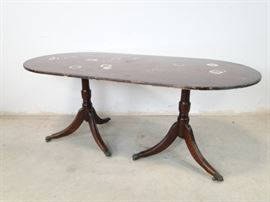 Double Pedestal Duncan Phyfe Dining Table TLC