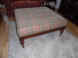 Large square Ottoman, used as Coffee Tabe