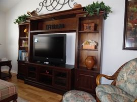 Entertainment Unit, 5 pieces.  Will accommodate large TV.
