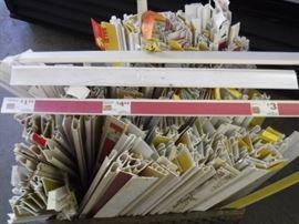 Hundreds of Shelf Labels