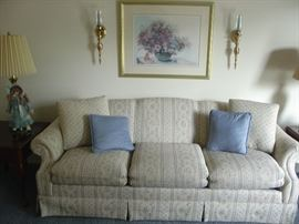 Custom Made Newton Sofa- Professionally cleaned and deoderized! Bertrand Floral Print