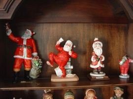 Left to right: Royal Doulton,Norman Rockwell, G. Armani & Dept 56