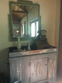 Primitive Dry Sink & Mirror