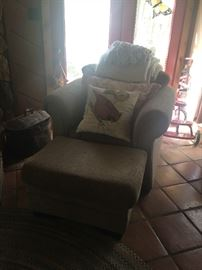 Overstuffed Chair & Ottoman