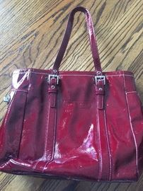 Coach - Red Leather with dust bag