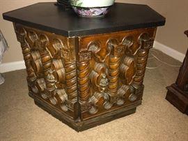 Oriental style side table