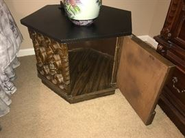 Oriental side table (open)