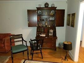 beautiful antique secretary.