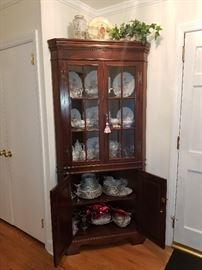 beautiful corner cabinet.