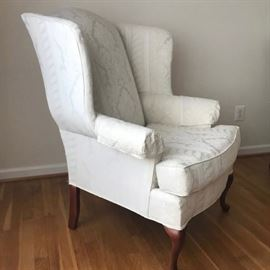 Pair of clean wing back chairs